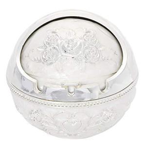 AROXIA 灰皿 ヨーロッパ風 おしゃれ 卓上 煙の出ない灰皿 (シルバー&ホワイト)|meki