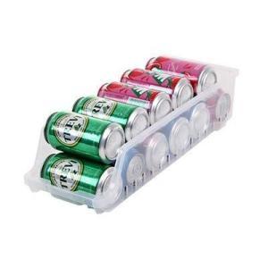 [Red Lightning] 冷蔵庫 収納 トレー トレイ ストッカー オーガナイザー 傾斜付き 缶ビール 缶ジュース 整理 RL107|meki