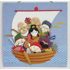 多加楽ちりめん手芸「七福神の宝船」手作りキット|meki
