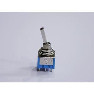 ギター/エフェクター/電子回路用 ミニスイッチ ON-ONタイプ 2回路2接点6ピン ブルー (1個単品)|meki