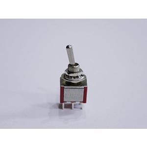 ギター/エフェクター/電子回路用 ミニスイッチ ON-ONタイプ 2回路2接点6ピン レッド(赤色) (1個単品)|meki