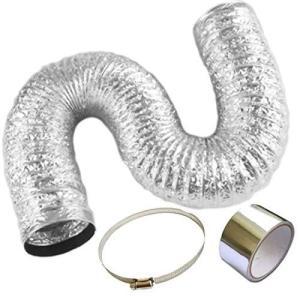 A'sTool 換気用ダクトホース?排気 送風機用 フレキシブル 蛇腹ダクト 取付ベルト アルミテープ 付き 直径15cm (4メートル)|meki