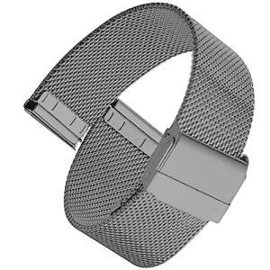 [UNBALANCE]時計バンド 時計ベルト 交換ベルト 316L ステンレスベルト ステンレスバンド (ブラック 20mm)|meki