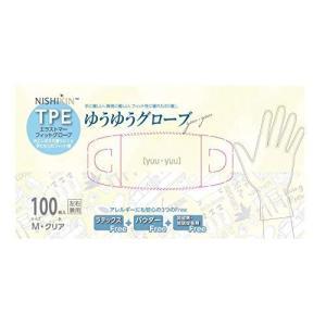 NISHIKIN ゆうゆうグローブTPE手袋 100枚入 M|meki