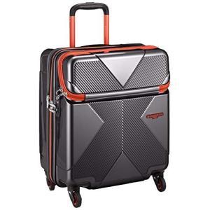 [ヒデオワカマツ] スーツケース ジッパー 拡張機能付き トップオープン マックスキャビン 機内持込最大容量 機内持ち込み可 保証付 42L 50 c|meki
