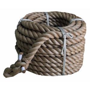 まつうら工業 サイザル麻製 綱引きロープ 太さ30mm 長さ約10m 両端折り返し編み加工付|meki