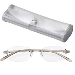 ライブラリーコンパクト 超軽量 TR90 フレーム ツーポイント シニアグラス 老眼鏡 男性 紳士用 +2.50 (専用ケース付) 4230-25|meki