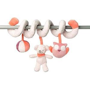 Nattou ナチュー スパイラル ベビー ハンギング おもちゃ ぬいぐるみ ベッドメリー 知育 やわらかい 安全 かわいい ベビーベッド ベビーカー|meki