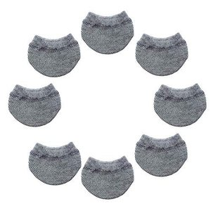 CHUNYU スーツケース ホイール用 カバー 保管時の床汚れを防止 キャリーケースのタイヤ用ソックス (8個 グレー)|meki