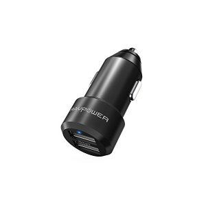 RAVPower カーチャージャー USB 車載充電器 [2ポート/24W/12V・24V車/急速充...