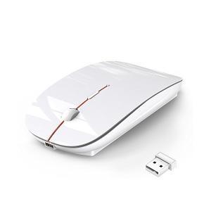 ワイヤレスマウス 静音 無線 マウス 超薄型 USB充電接続 省エネルギー 2.4GHz 3DPIモ...