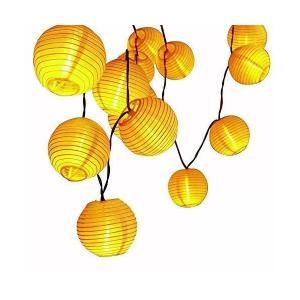 ALED LIGHT LEDイルミネーションライト 省エネ 防雨防水型 ソーラー充電式 20LED 電球色 2点灯モード 提灯 クリスマスライト ス|mekoda-store