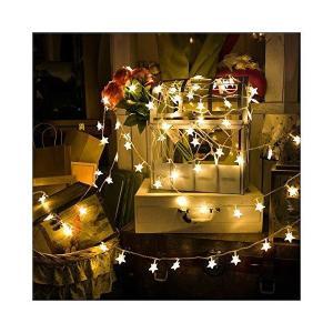 イルミネーションライト 装飾LED星型ストリングライト 室内外 装飾 結婚式 お庭など対応 パーティー 飾り ライト 正月 クリスマス 飾り バレン|mekoda-store