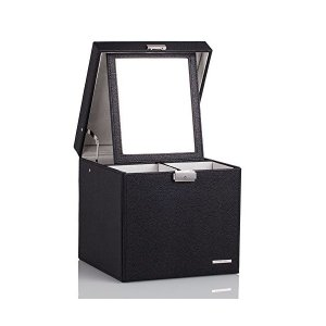ローリング(Rowling) 大容量 コスメBOX   メイクボックス 化粧箱   アクセサリー収納 ブラック  HG055BLACK mekoda-store