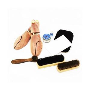 (ワイアールエムエス)YRMS シューケア用品 M.モゥブレィセット 靴磨き シューツリー付 フルセット 靴のケアに最適のアイテム満載 靴のお手入れ|mekoda-store