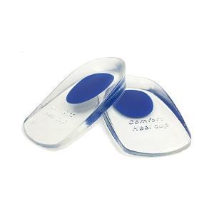 かかとパッド 足底筋膜炎インソール かかと痛サポーター かかと足クッション シリカゲル ジェルヒールカップ 男/女性適用 (青色S)|mekoda-store