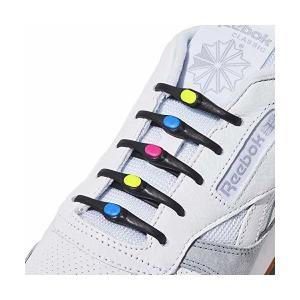 HICKIES 2.0 - ヒッキーズ2.0 フリーサイズ 結ばない伸縮素材の靴ひも - ブラック(黒)/マルチカラー(多色) (14 ヒッキーズ靴|mekoda-store