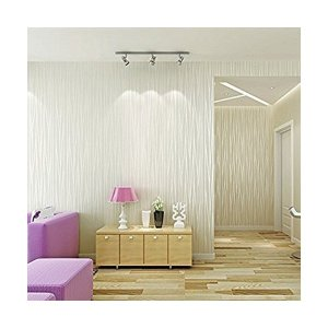 DIY 3D立体 壁紙 シール 簡単 貼付シール壁紙 おしゃれ ストライプ柄 不織布 はがせる壁紙 月光の森 ベッドルーム リビングルームの背景 5|mekoda-store
