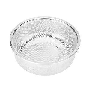 洗米 ざる 水切り 18-8ステンレス ザル 蒸し器 米とぎボール ストレーナー 18cm|mekoda-store