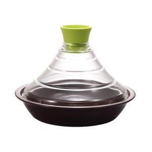 ハリオ ふたがガラスのタジン鍋 グリーン TN-200GP|mekoda-store