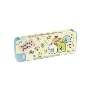 サンエックス すみっコぐらし 筆箱 ソフトペンケース 両面開き 鉛筆削り付 PY66601|mekoda-store