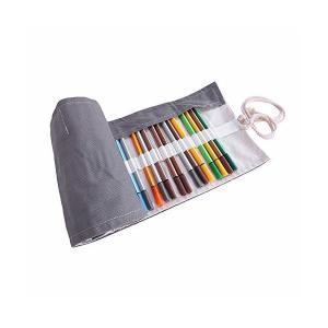 ペンケース 無地 ロールペンケース ブラシケース ペン入れ 筆箱 レディース メンズ 機能的 メイクポーチ 小物入れ 収納ポーチ 48ポケット 72|mekoda-store