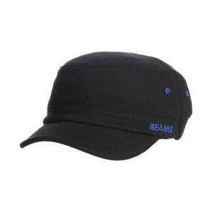 BEAMS キャップ リブ切替 ワーキャップ メンズ Black One Size|mekoda-store