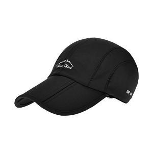 (セドン) Cedon 折り畳み 帽子 キャップ アウトドア  登山 釣り スポーツ 通気性 防水 男女兼用 メンズ レディース (ブラック)|mekoda-store