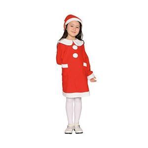 キッズワンピースサンタ キッズコスチューム レッド 女の子 115cm-125cm|mekoda-store