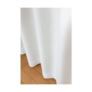 ユニチカ サラクール 夜も透けにくい ミラーレースカーテン 幅100cm×丈183cmの2枚組の商品画像 ナビ