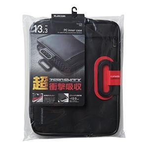 エレコム インナーバッグ ノートパソコンケース 衝撃吸収 ZEROSHOCK 取っ手付 13.3 ブラック 12/12.1/12.5/13/13.3|mekoda-store