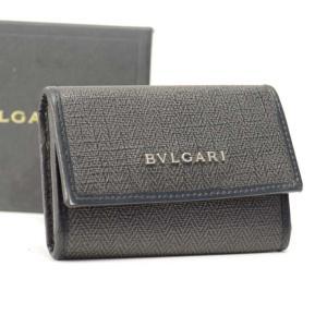 a37647f70cab ブルガリ 6連キーケース レザー ブラック グレー 男女兼用 32583 BVLGARI