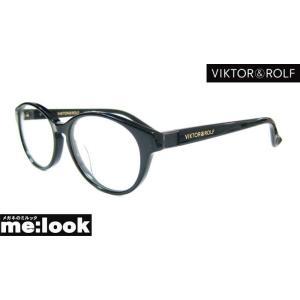 Viktor&Rolf ビクター&ロルフ伊達メガネ加工済 クラシック メガネ フレーム 70-0089-4 サイズ53 度付可 ブラック|melook
