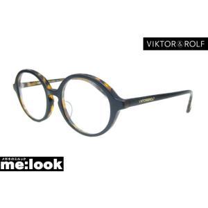 Viktor&Rolf ビクター&ロルフ伊達メガネ加工済 クラシック ラウンド フレーム 70-0103-3 サイズ49 度付可 マットブラック/ブラウンデミ|melook