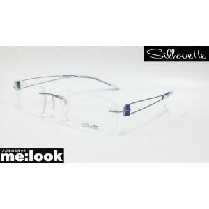 国内正規品 超軽量フレーム Silhouette シルエット メガネ フレームレス メガネ フレーム 7755-12-6050 サイズ53 度付可 シルバー 縁なし melook