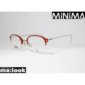 AMIPARIS アミパリ 軽量 ハイブリット メガネ フレーム MINIMA-N2-1741 度付可 メタルレッド melook