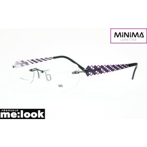 MINIMA ミニマ メガネ フレーム 最高のかけ心地 超軽量 MINIMA5PLUS-BLK-SH 度付可 縁なし パープル melook
