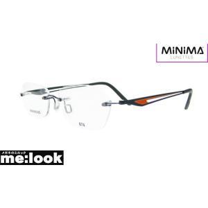 MINIMA ミニマ メガネ フレーム 最高のかけ心地 超軽量 MINIMA63-ORG-874 度付可 縁なし マットブラック/オレンジ melook