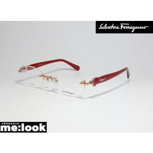 FERRAGAMO フェラガモ メガネ フレーム SF2531A-601-53 度付可 レッド 縁なし melook