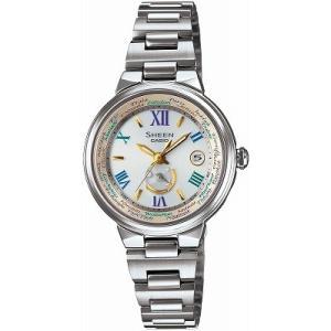 カシオ CASIO 腕時計 SHEEN シーン 世界6局対応電波ソーラー SHW-1509D-7A3JF レディース|melook
