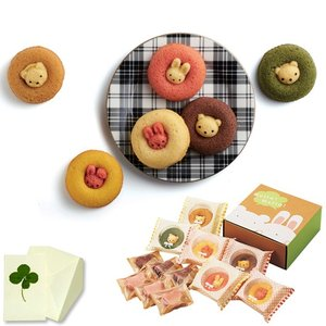カリーノ アニマルドーナツ&焼菓子セット A 内祝い、お祝い、お歳暮、お中元、お誕生日 98036-07|meme