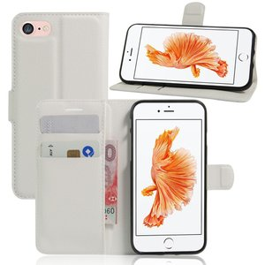 iPhone8 ケース iPhone7 ケース ホワイト アイフォン8 アイフォン7 手帳 財布 スマホケース 保護フィルム付き|memon-leather