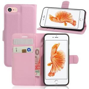 iPhone8 ケース iPhone7 ケース ピンク アイフォン8 アイフォン7 手帳 財布 スマホケース 保護フィルム付き|memon-leather