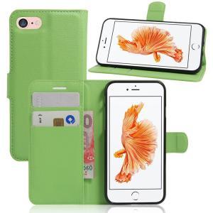 iPhone8 ケース iPhone7 ケース グリーン アイフォン8 アイフォン7 手帳 財布 スマホケース 保護フィルム付き|memon-leather