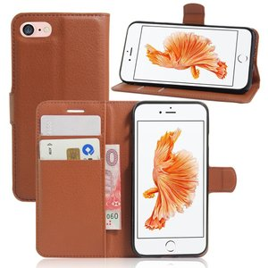 iPhone8 ケース iPhone7 ケース ブラウン アイフォン8 アイフォン7 手帳 財布 スマホケース 保護フィルム付き|memon-leather