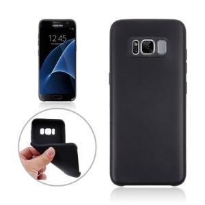 Galaxy S8 Plus ソフトケース ブラック 液晶保護フィルム付き ギャラクシーS8 プラス 背面型耐衝撃 超薄軽量型|memon-leather
