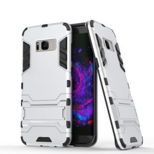 Galaxy S8 Plus ハードケース シルバー 液晶保護フィルム付き ギャラクシーS8 プラス 背面型耐衝撃 超薄軽量型|memon-leather