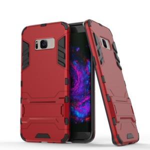 Galaxy S8 Plus ハードケース レッド 液晶保護フィルム付き ギャラクシーS8 プラス 背面型耐衝撃 超薄軽量型|memon-leather