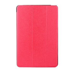iPad 2017 レザーケース レッド 液晶保護フィルム付き アイパッド2017 カバー 手帳型スタンド機能|memon-leather