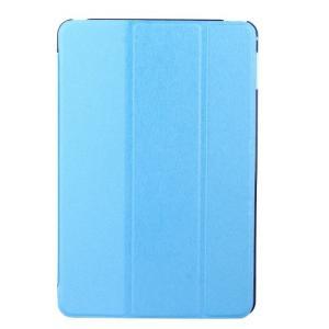 iPad 2017 レザーケース ベイビーブルー 液晶保護フィルム付き アイパッド2017 カバー 手帳型スタンド機能|memon-leather